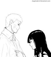 NaruHina: Late night by angelcake12