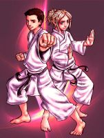 Martial Arts Siblings by Of-Red-And-Blue