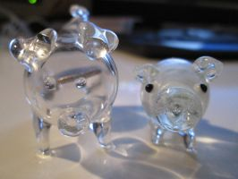 Two Glass Piggies by SymbiopticStudios