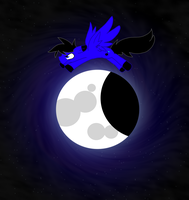 AndTheBlueJumpedOverTheMoon by 0Shiny0