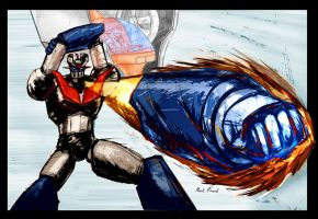 technicolor mazinger punch by southpawdragon