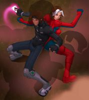 gambit and rogue by DXSinfinite