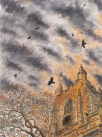 Dusk Roost at St Mary's by PhilipHarvey