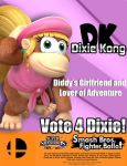 Dixie Kong for Smash 4 by TheHope18