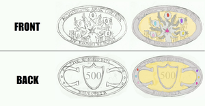 Rough Design- Equestrian 500 Long Bit Coin by Earthsong9405