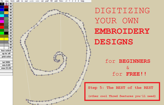 Digitizing your own Embroidery Designs: Step 5! by smashfold