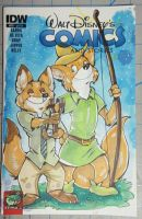 Two Foxes Comic Sketchcover by DaphneLage