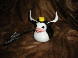 Cow King Rubber Duck by Oriana-X-Myst