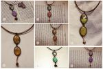 Leather cord pendants I by nabey