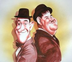 Laurel+Hardy by JSaurer
