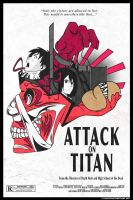 Attack on Titan Poster (Shingeki no Kyojin) by Saisettha7