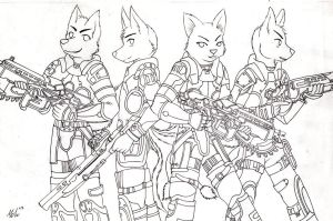 request gears of war furry by LiMakao