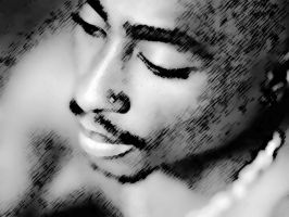 Tupac Shakur Artwork 3 by kadafiutc