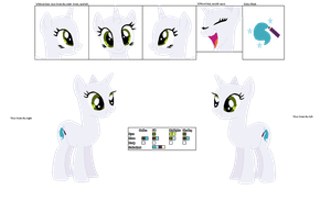 Starlight Official Character Ref without Mane by MaryPonyArtist