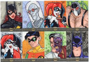 Batman: The Legend - Finch Sketch Cards by PatrickFinch