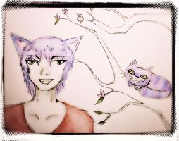 My friend the Cheshire Kitty by battybaby