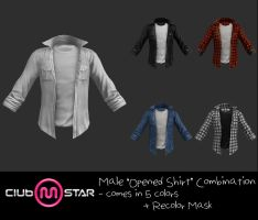 MStar Male Opened Shirt by XNAMall