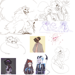 DAMMED that's a lot of sketches 4 by xCrazyWonderlandx