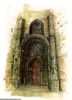 Saint Vitus Cathedral portal by FoxInShadow