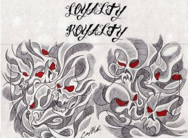Smokey Skulls Tattoo Design by NarcissusTattoos