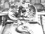 Snowy morning in the graveyard by CisneNegro