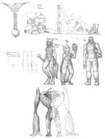 Mosperineech Concept Sketches by ArcheKruz