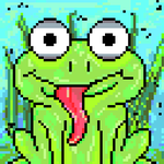 Pixel Art Frog by Megalomaniacaly