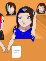Autumn and friends in class XD by NaruSakuLove1234