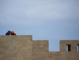 Castle Wall in Alexandria by brianhaddad