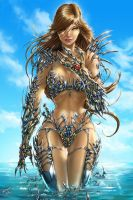 Witchblade Swimsuit, J. Tyndall by sinhalite