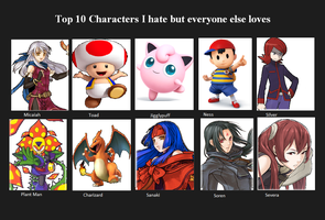 Characters I hate but people love by darkglaicalknight