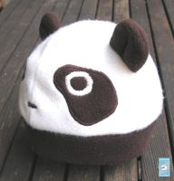 Baby sized mocha panda hat by The-Cute-Storm