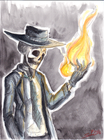 Skulduggery Pleasant playing with fire by icelandicghost