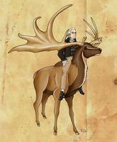 Johann Blumenbach and his Megaloceros by Pelycosaur24