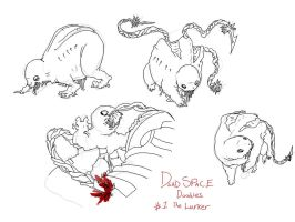 Dead space - Lurker doodles by Die-Laughing