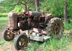 Rusty Old Tractor by CrystalMarineGallery