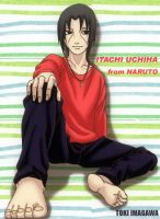 Relaxed Itachi by TokiImagawa