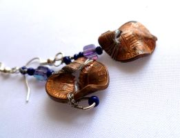 .d. Penny for your Thoughts: Custom Penny Earrings by Kimmy-of-the-Darkk
