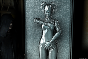 Sasha in carbonite (Star Wars) by db777