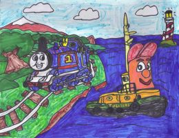 Thomas the Tank Engine Theadore Tugboat by SonicClone
