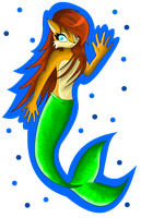 Comm - Sally Acorn Mermaid by SapphiresFlame