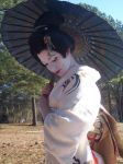 Geisha Parasol Dance 1 by themuseslibrary