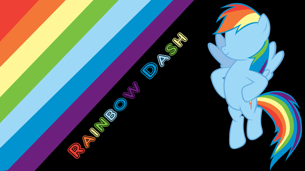 Simple Rainbow Dash wallpaper by totalcrazyness101