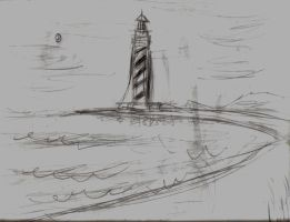 lighthouse sketch 2 by TimTindall