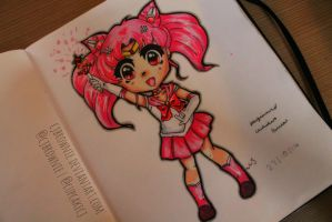 Tutorial sailor moon pink sugar heart attack by cjbrownie