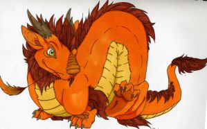 Colored Baby Eastern Dragon by Mirumquis