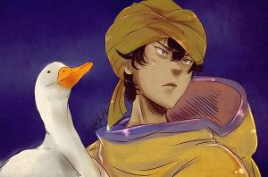 The Indian and his duck by AkariMarco