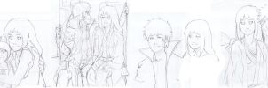 Naruhina sketches by Artict