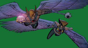 Hawkman and Hawkgirl by lovesfantasticbeings