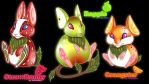 :Strawbunny Rapple and Orangster: by Asher-Bee
